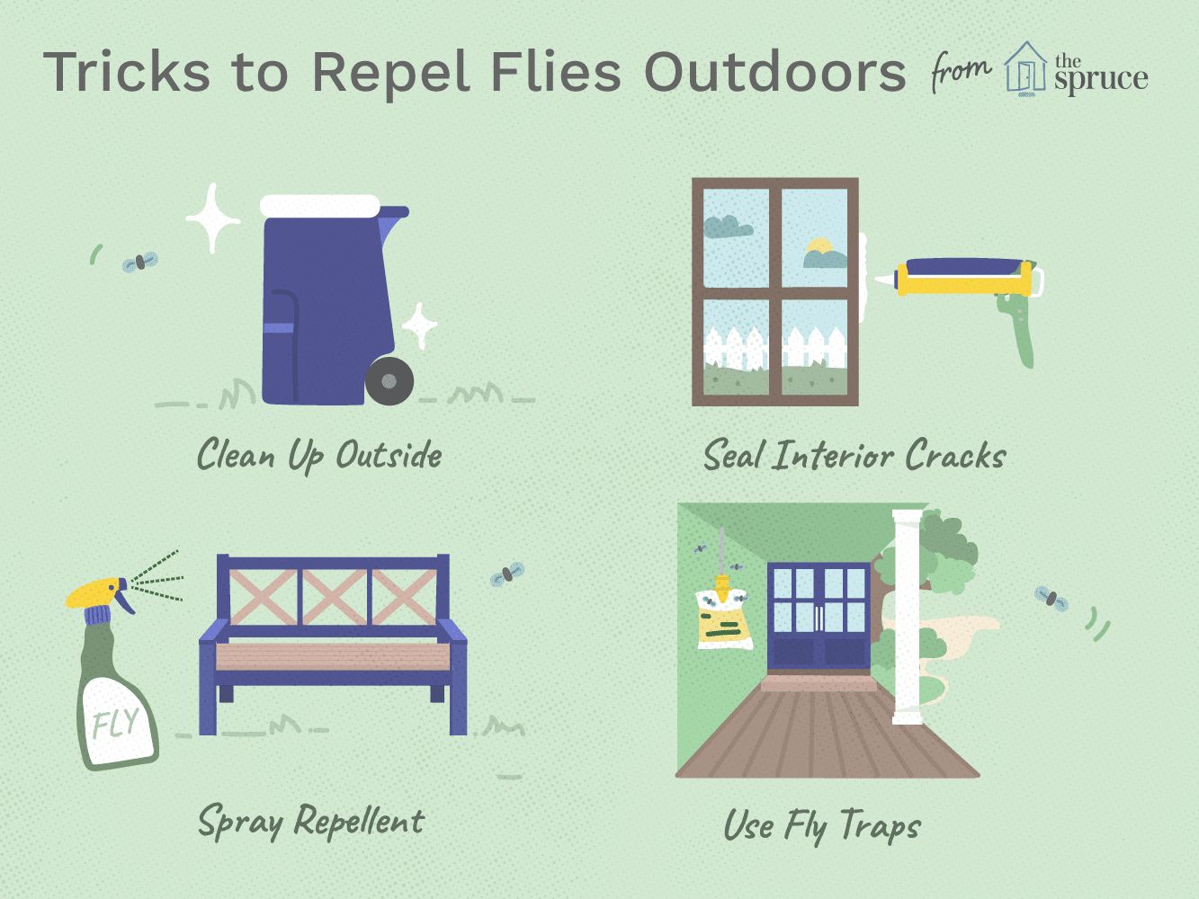 how to get rid flies outdoors