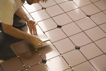 how to install ceramic floor tile