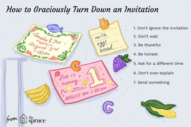 Polite Way To Turn Down An Invitation