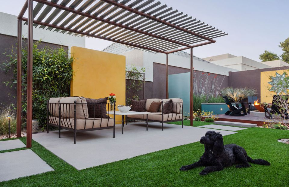 15 Beautiful Concrete Patio Ideas and Designs on Concrete Slab Backyard Ideas id=90244