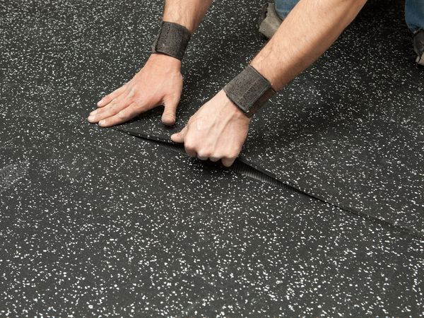 residential rubber flooring tiles and