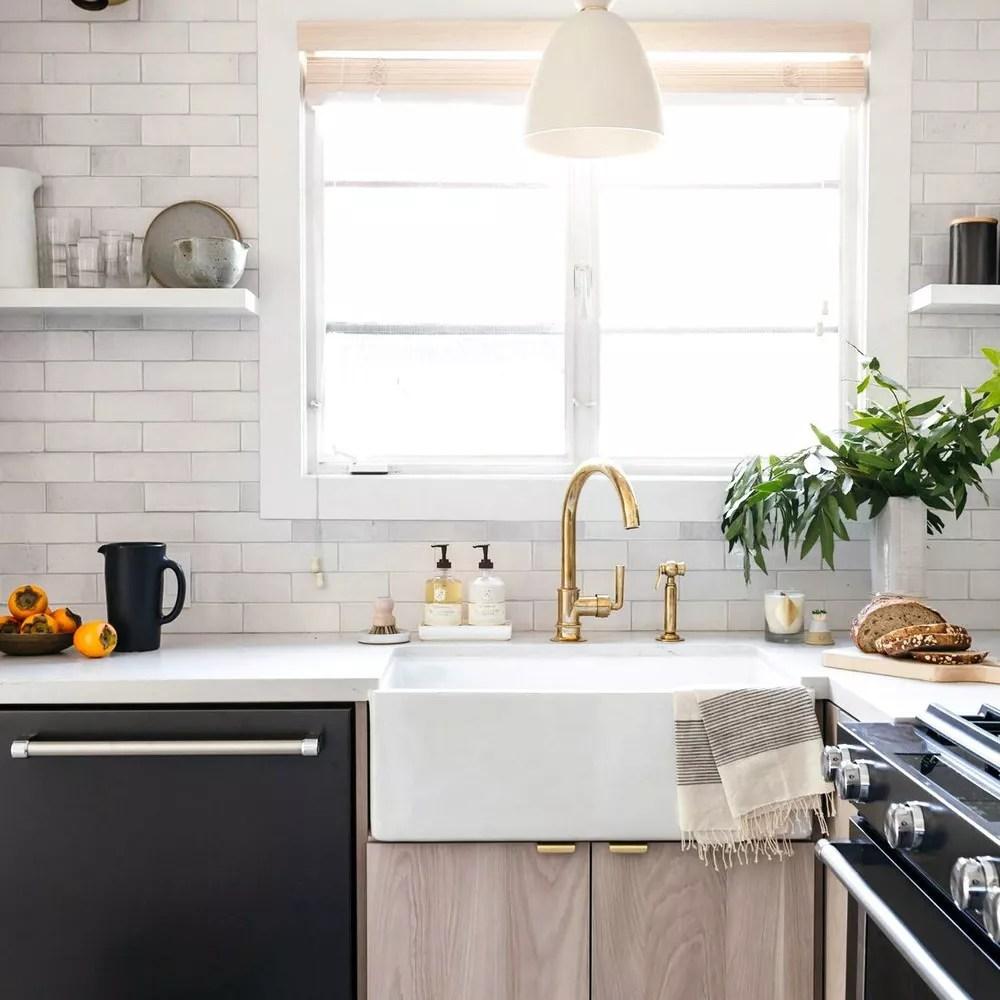 kitchen with white tile