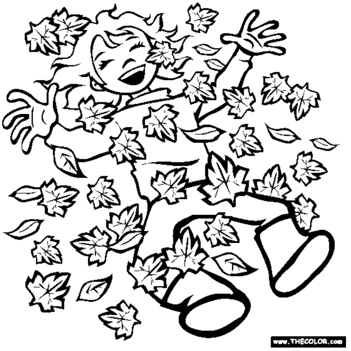 Free Autumn And Fall Coloring Pages