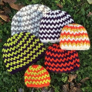 Chevron Crochet Hats