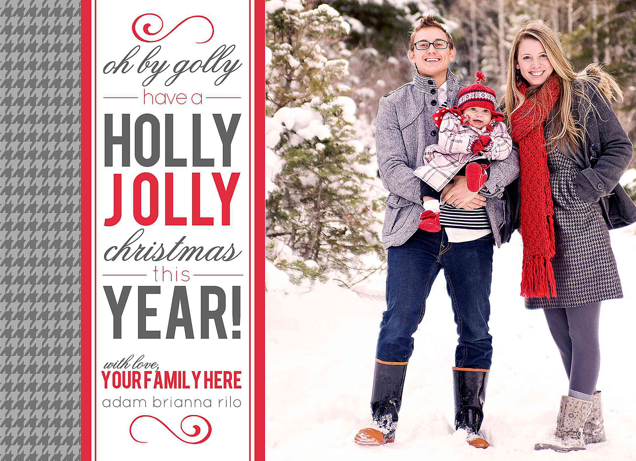 11 Free Templates For Christmas Photo Cards