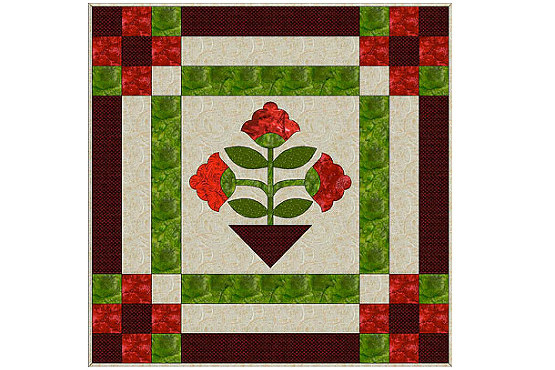 Easy Applique Quilt Pattern Made With Fusible Web