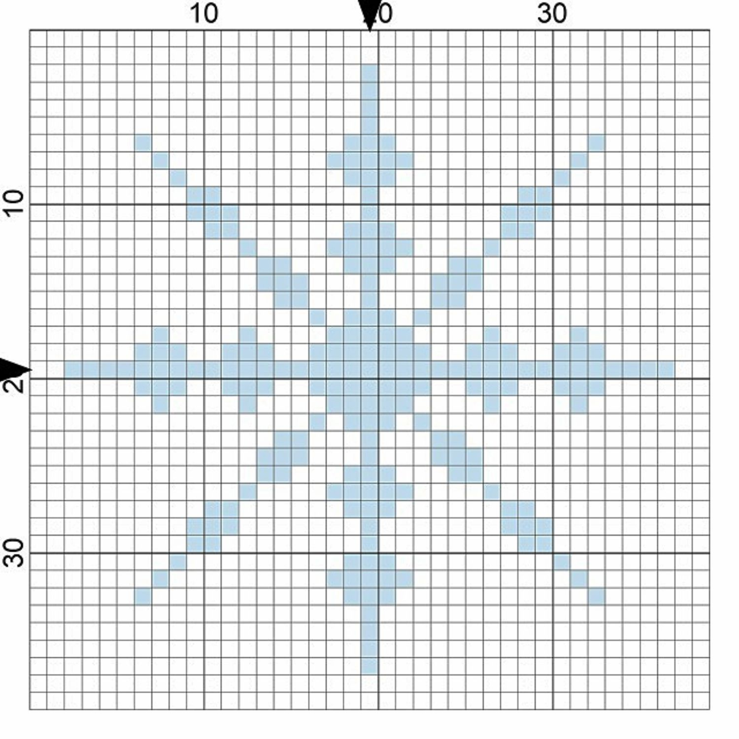 Easy Snowflake Needlepoint Chart