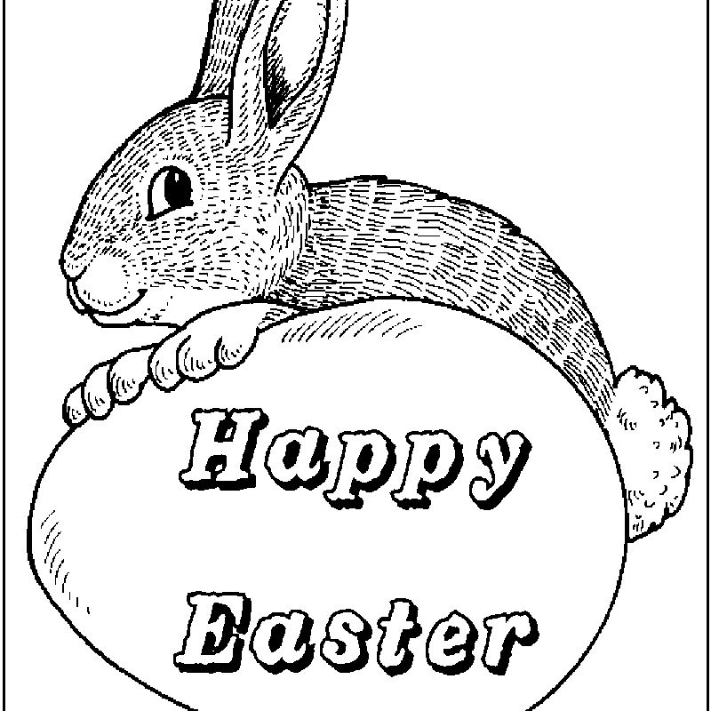 9 Places For Free Easter Bunny Coloring Pages