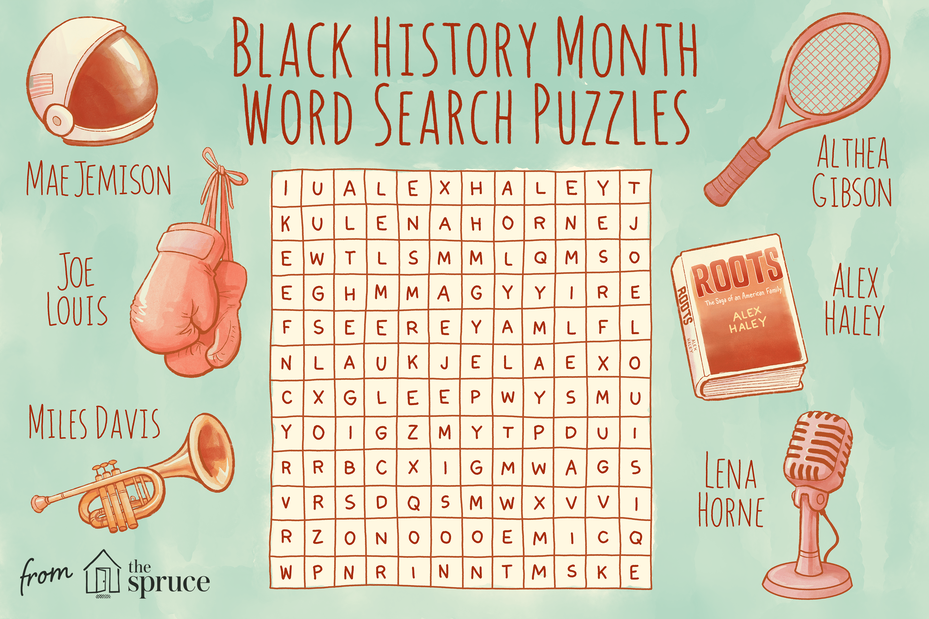 Black History Month Word Search Puzzles For Kids