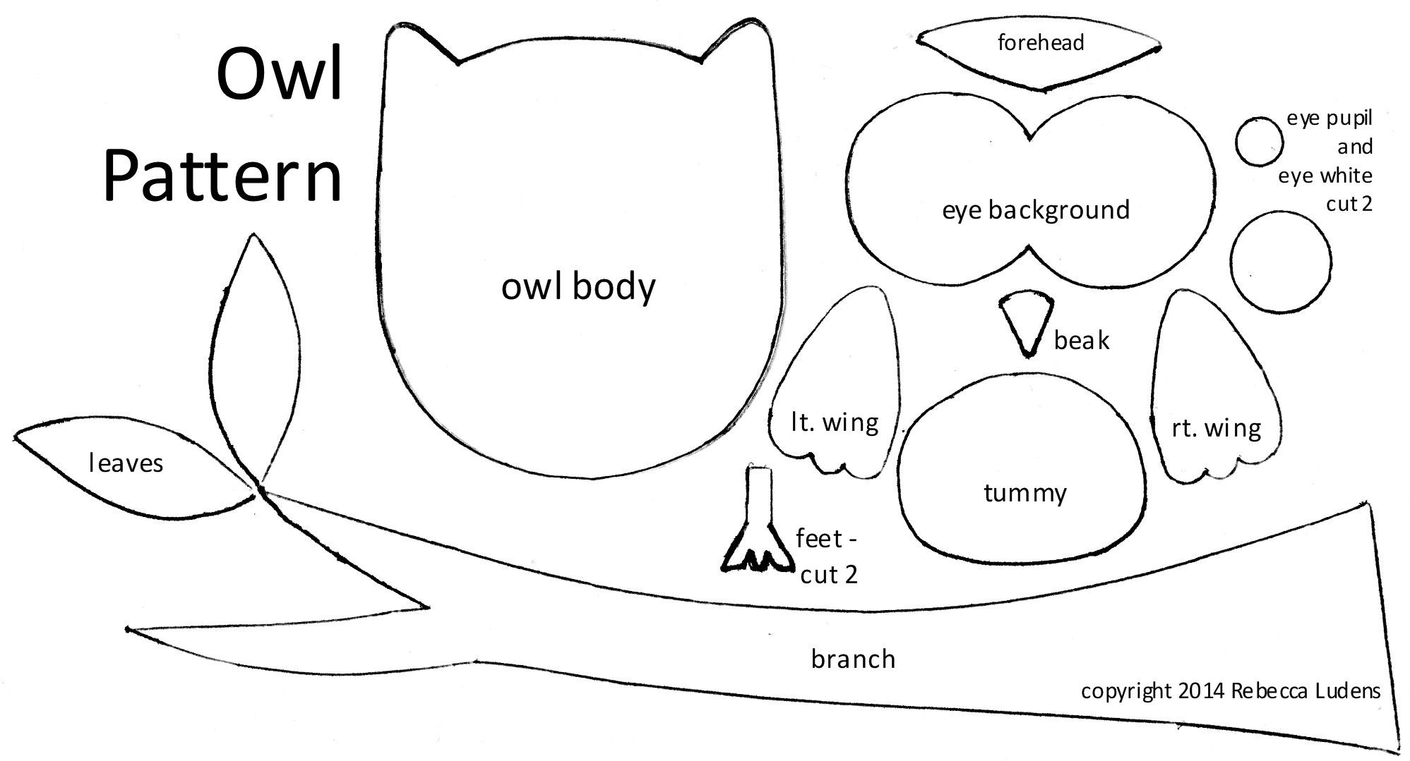 Free Owl Pattern For Scrapbooking Amp Greeting Card Idea
