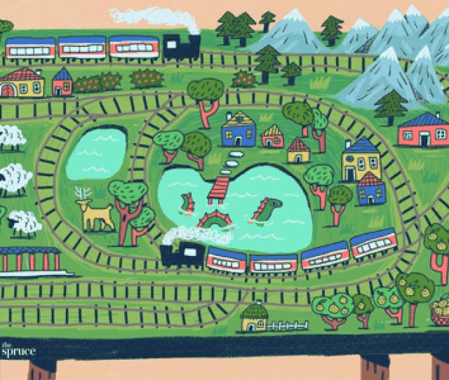 Illustration Of Model Train Track Layouts