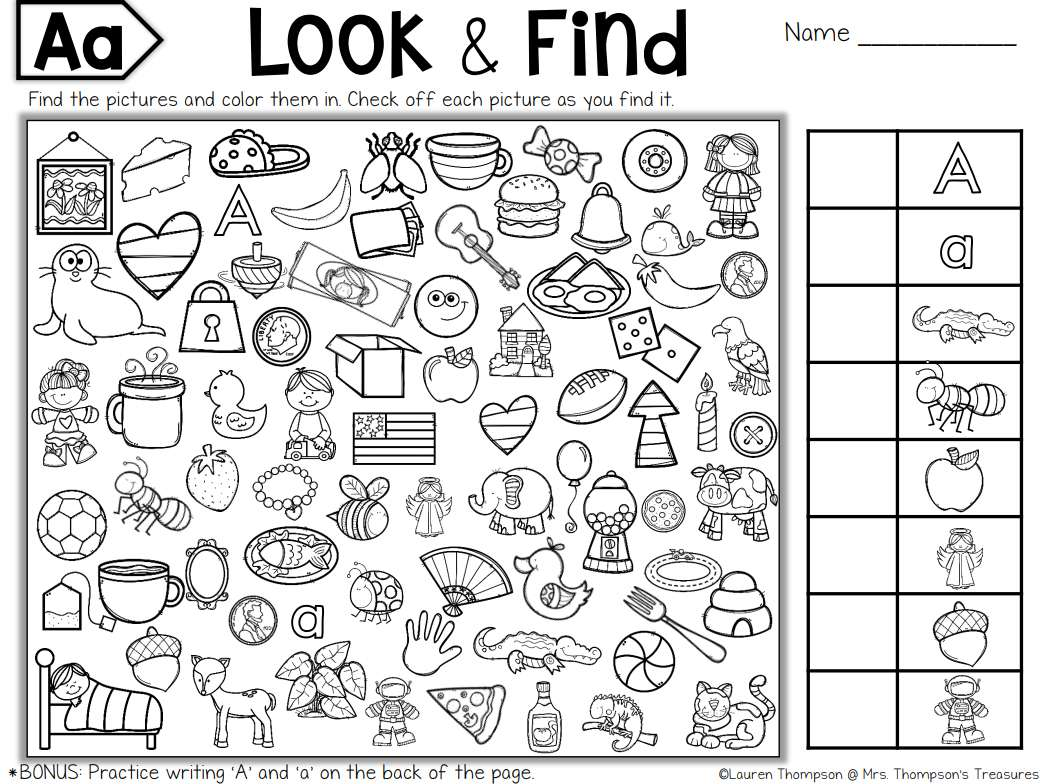 Hidden Pictures Printables For Kids