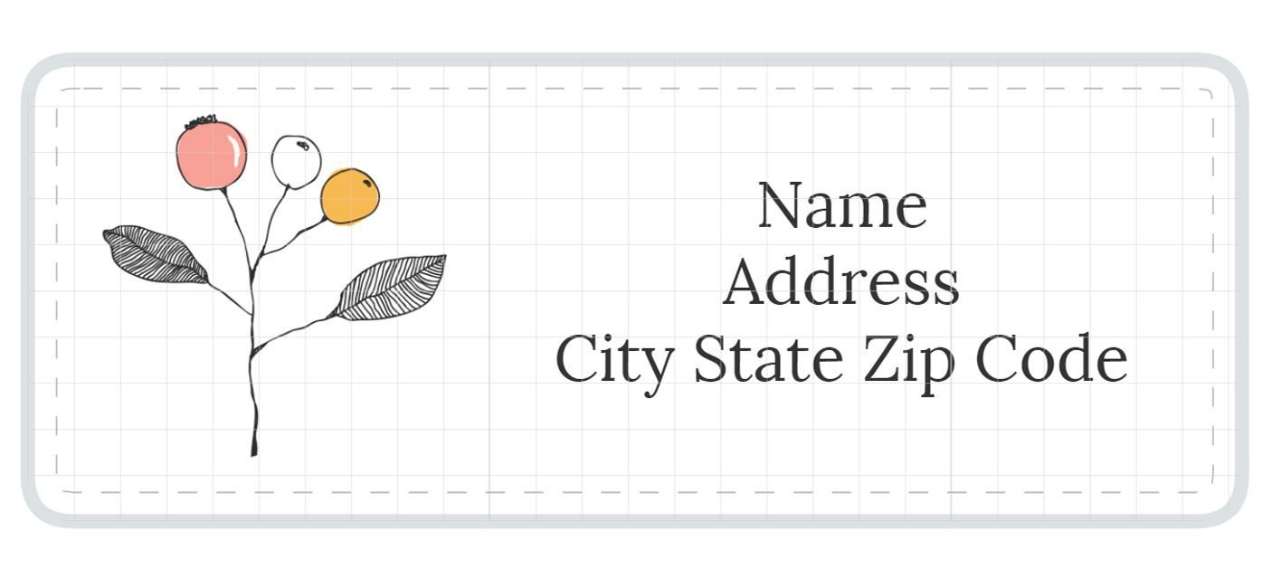 Peach and black stripes address label. 11 Places To Find Free Stylish Address Label Templates