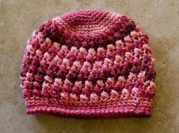 Cushion Cluster Beanie Crochet Pattern
