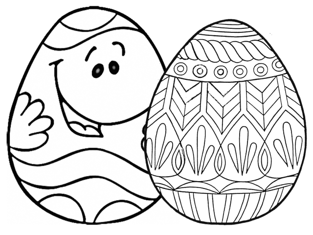 22 Places for Free, Printable Easter Egg Coloring Pages