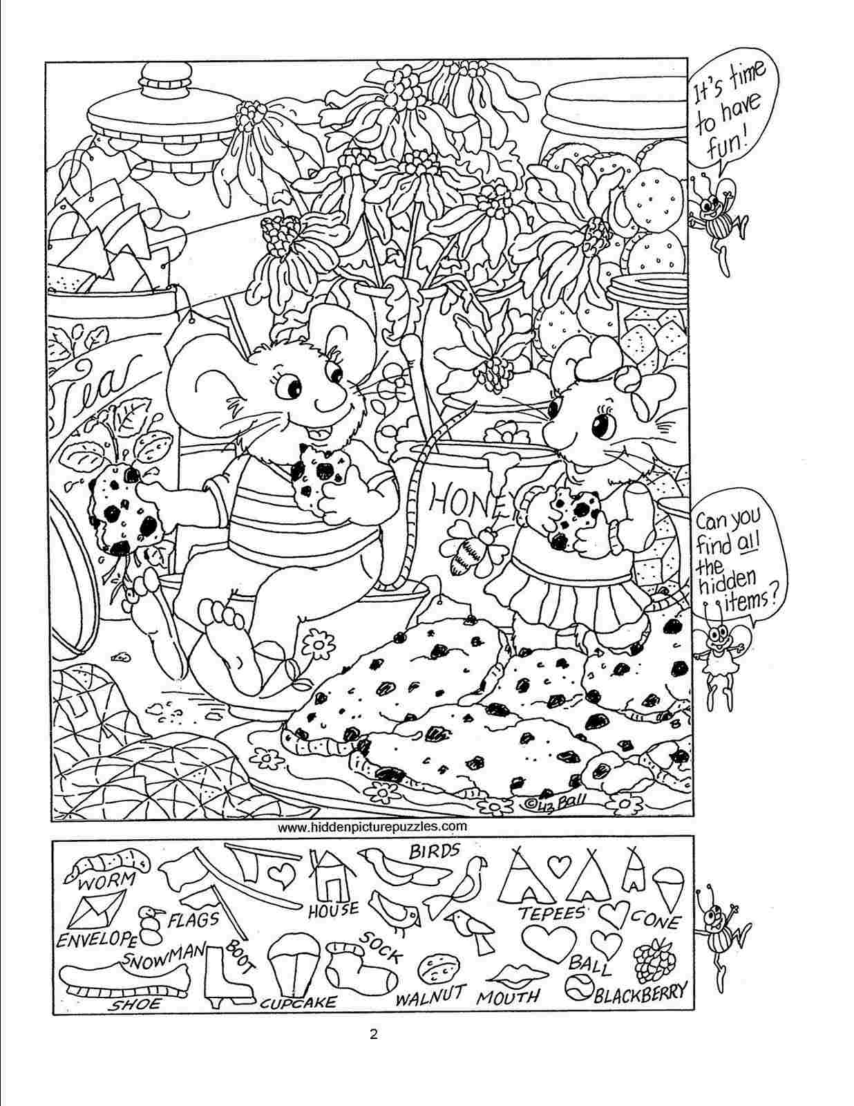 Free Hidden Picture Printables