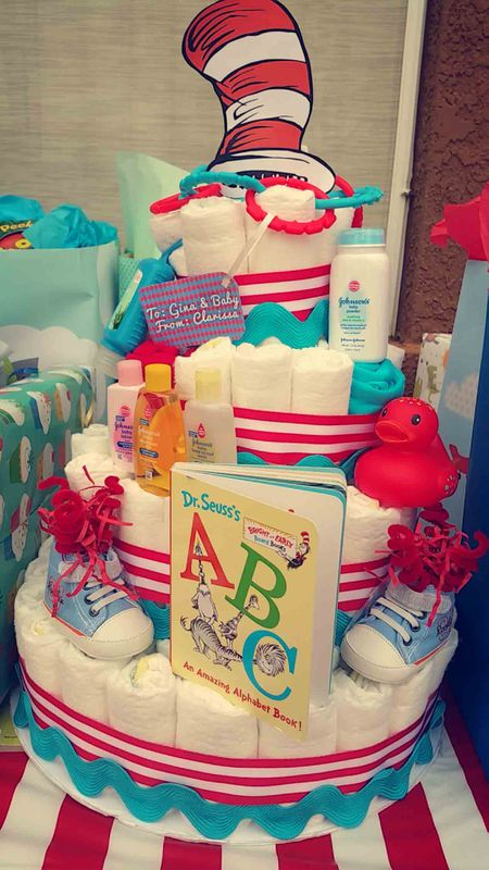 Easy Dr Seuss Themed Diaper Cake For Your Next Baby Shower
