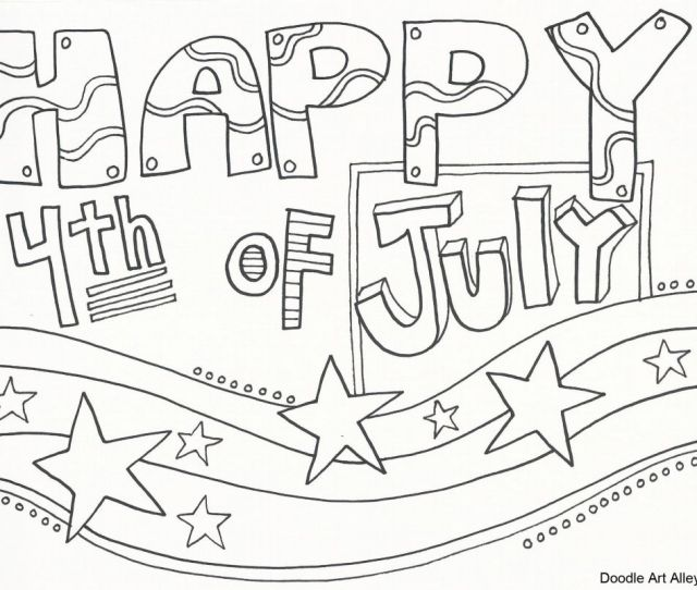 Free Printable Th Of July Coloring Pages