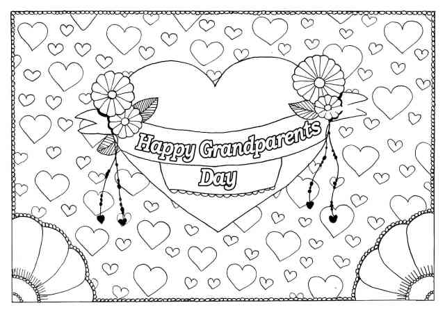 Free, Printable Grandparents Day Coloring Pages