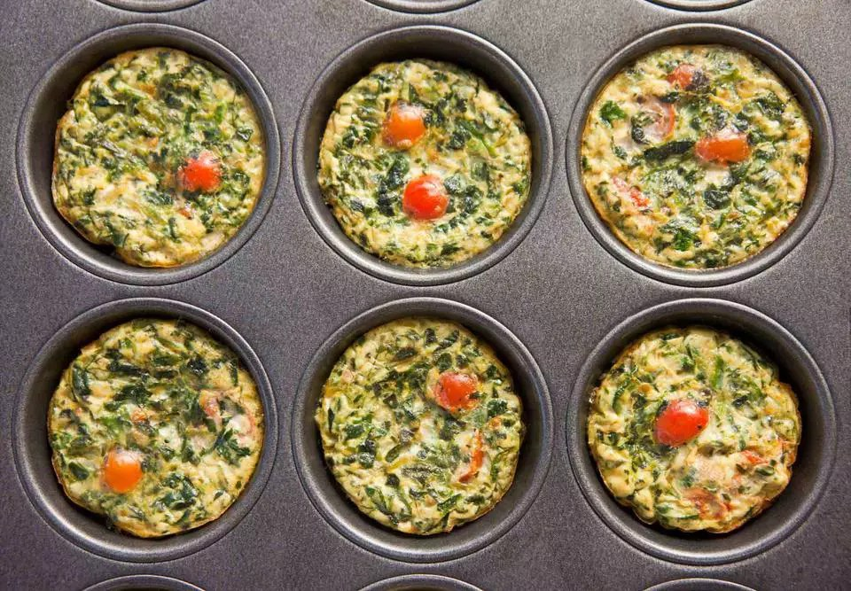 Savory Quinoa Egg Muffins With Spinach