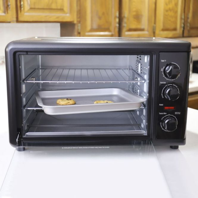A Countertop Oven With Rotisserie