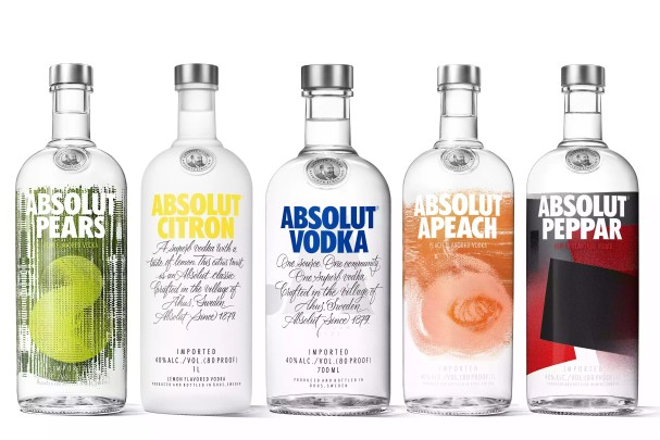 A Selection of Bottles from Absolut Vodka