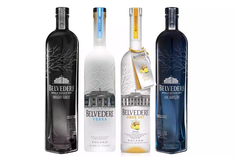 Selection of Belvedere Vodka