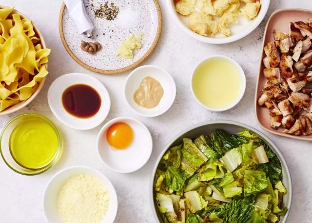 Grilled Chicken Caesar Pasta Salad ingredients