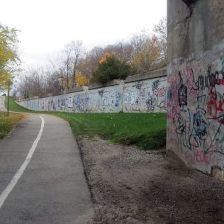 """""""The contrast of art and nature is a refreshing component of the street art on the Grand River Trail"""""""