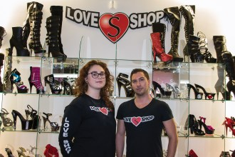 With about 10 years of experience in Brantford, the Love Shop can cater to Brantford's strangest requests. (Left to right, Kayla Farmer, Adam Rizzotto)