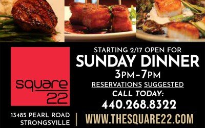 Opening for Sunday Dinner, Starting Feb. 17th