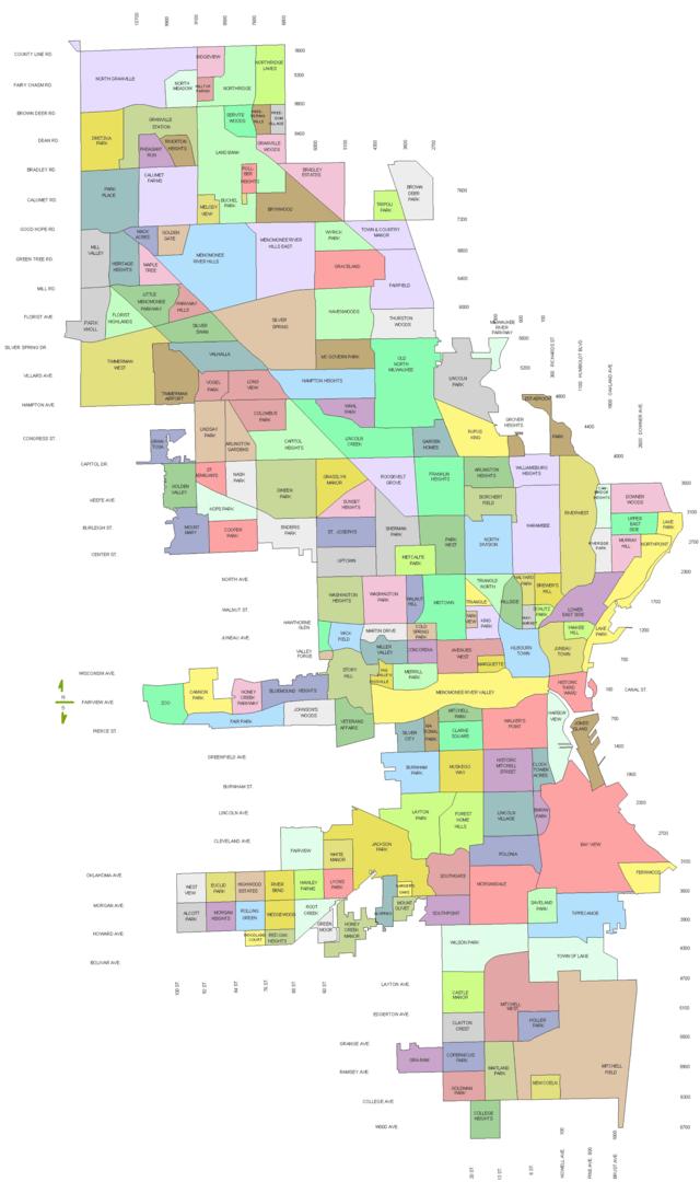 Milwaukee Neighborhood Map Explore Your Neighborhood: Milwaukee – The Squeaky Curd