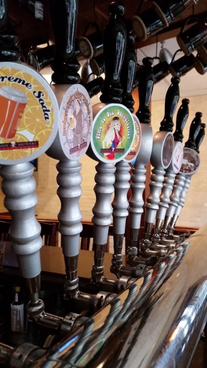 For only being served at this one location, Riverside makes some fun logos for each beer.