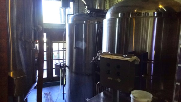 The brewing equipment is sort of hidden in a back area, though visible behind glass. Didn't seem to be a focal point.