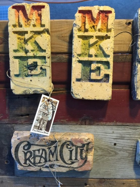 Cream City Brick artwork by Dan Atkinson. Photo by Erin Bayliss.