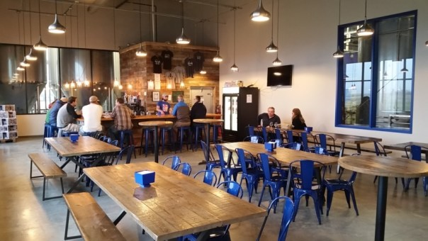 The taproom is large and industrial, just like the rest of Octopi.
