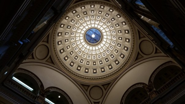 The dome is a beauty, both from outside and from below in the main entrance rotunda.