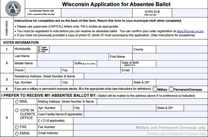 Request an Absentee Ballot by Mail