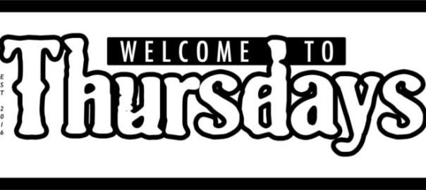 Welcome to Thursdays Logo (853pxW)