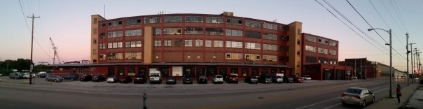 The Lincoln Warehouse on the corner of 1st and Becher.