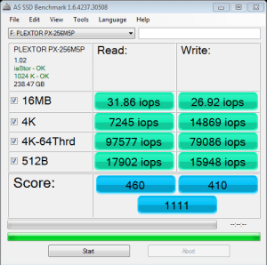 M5 Pro AS SSD IOPS