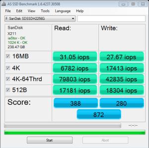 SanDisk Ultra Plus AS SSD IOPS