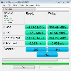 MyDigitalSSD BP4 120GB AS SSD Bench