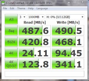 KingFast KF1310MCF mSATA SSD CrystalDisk Mark 0Fill