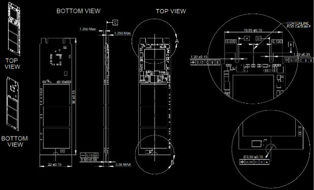 Intel SSD 530 M2 diagram image