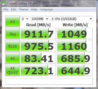 RAPID Samsung 840 EVO 1TB SSD CDM