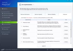 Samsung Magician OS Optimization