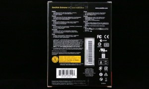 SanDisk Extreme II 480GB SSD Package Back