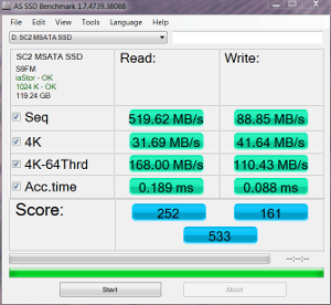 SSD only AS SSD MBs