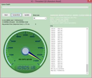 VAIO Pro 13 256GB SSD AnvilRead 109051 IOPS
